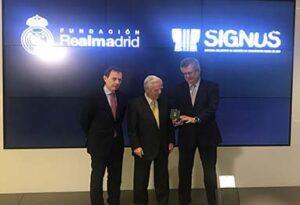 Signus colabora con la Fundación Real Madrid
