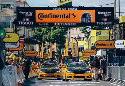 Continental por la competitividad segura en el Tour de Francia