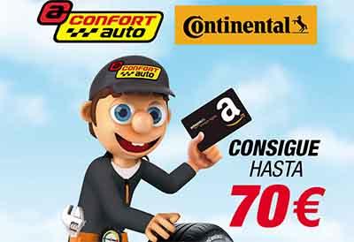 Promoción de Confortauto y Continental en Amazon