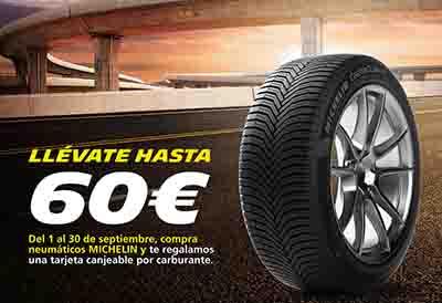 Confortauto y Michelin te regalan hasta 60€ de carburante en septiembre