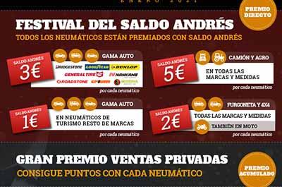 Del 25 al 29 de enero en el Grupo Andrés los neumáticos tienen premio