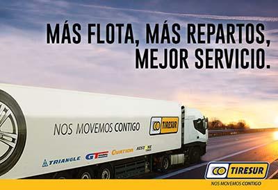 El distribuidor Tiresur amplia el servicio de entrega en Cataluña