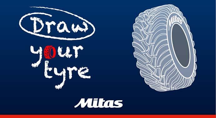 Mitas lanza el desafío Draw Your Tyre