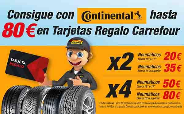 Confortauto y Continental regalan en septiembre