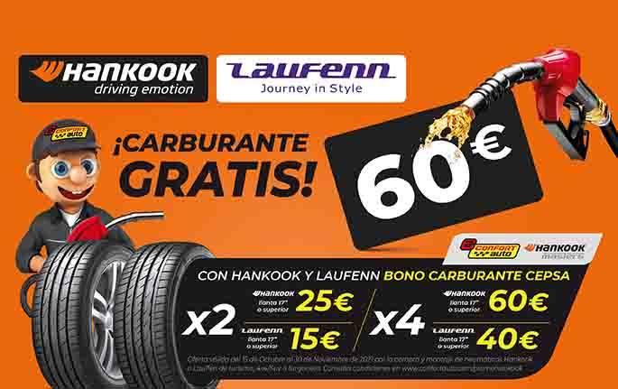 Promoción Confortauto por la compra de neumáticos Hankook y Laufen