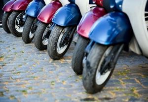 neumáticos de moto a medio usar